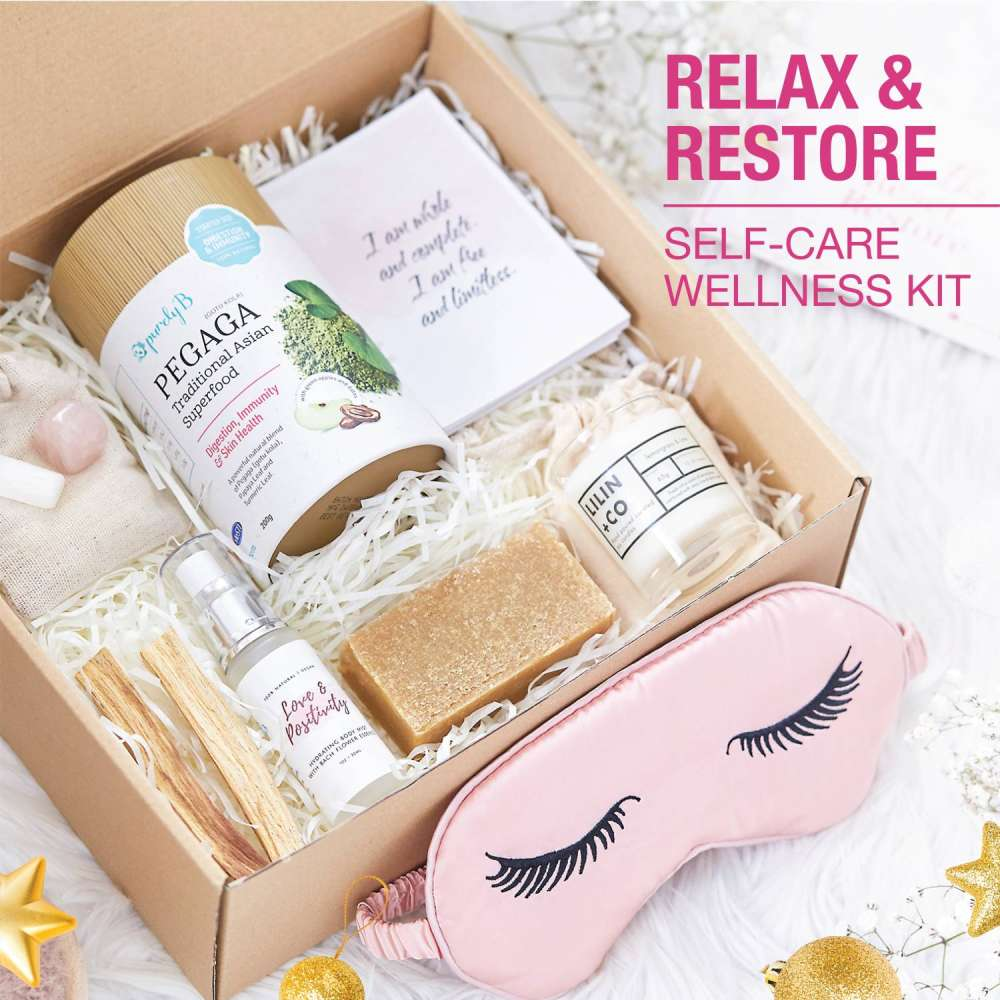 relax and restore self care wellness kit