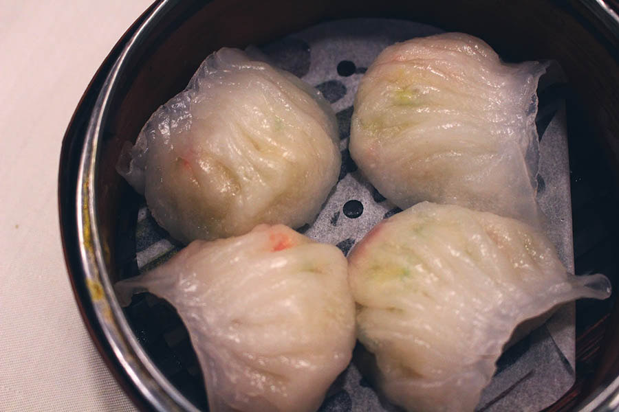 Vegetarian shrimp dumpling