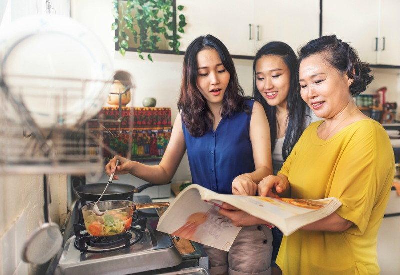 bigstock Asian family is cooking in the 216560923 resize