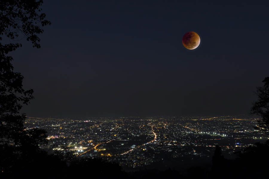 bigstock Lunar Eclipse Over Chiang Mai 226626100