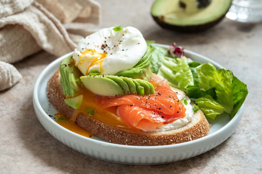 bigstock Salmon Avocado And Poached Eg 281510242