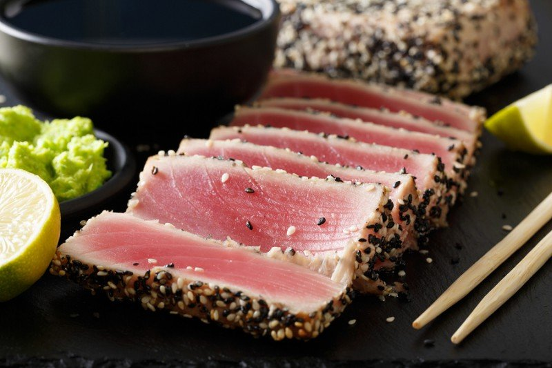 bigstock Seared Ahi Tuna With Sesame Se 202222522 resize