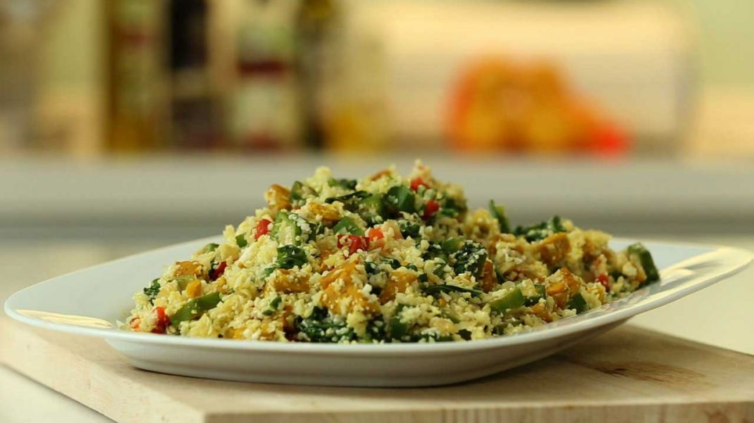 "Cauliflower Fried ""Rice"" Recipe (VIDEO)"