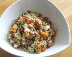 Quinoa Salad With Pomegranate, Pumpkin and Mozzarella Recipe