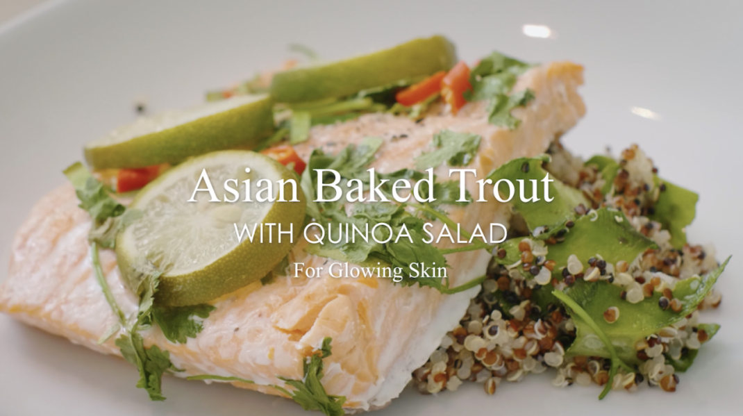 Baked Asian Trout En Papillote With Quinoa Salad—A Recipe For Glowing Skin
