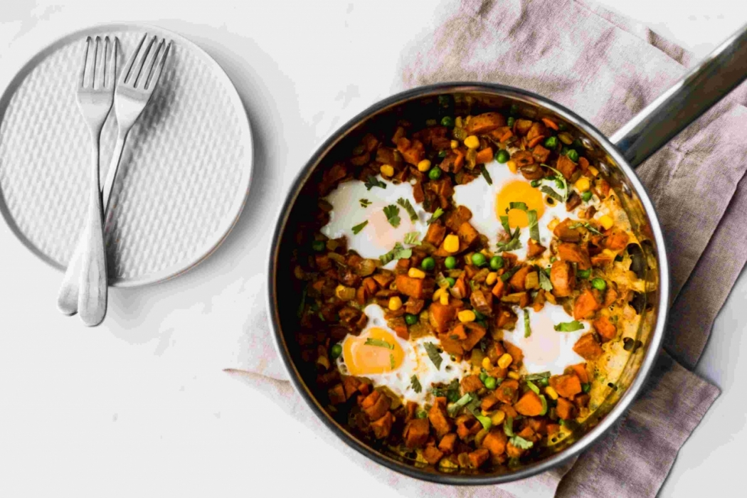Nourishing Sweet Potato Samosa Hash