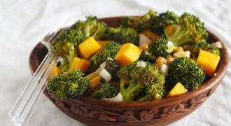 Roasted Broccoli Salad with Mustard Vinaigrette