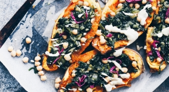 Support Your Body Pre-Menstruation With These Loaded Baked Sweet Potatoes