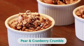 Vegan Pear Cranberry Crumble