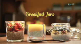Mango, Blueberry & Strawberry Chia Seed Pudding - Healthy Breakfast-in-a-Jar!