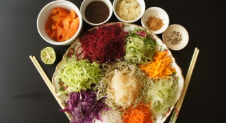 Raw With Chef Yin - Raw Vegan Yee Sang