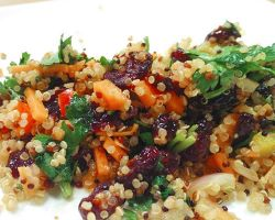 Cranberry Chili Salt Quinoa Salad