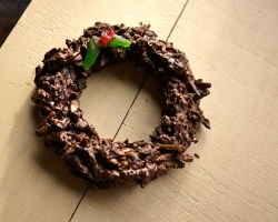 Dark Chocolate Almond Wreath