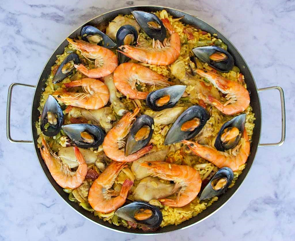 A Taste of Spain! Brown Rice Mixed Paella Everyone Will Enjoy!