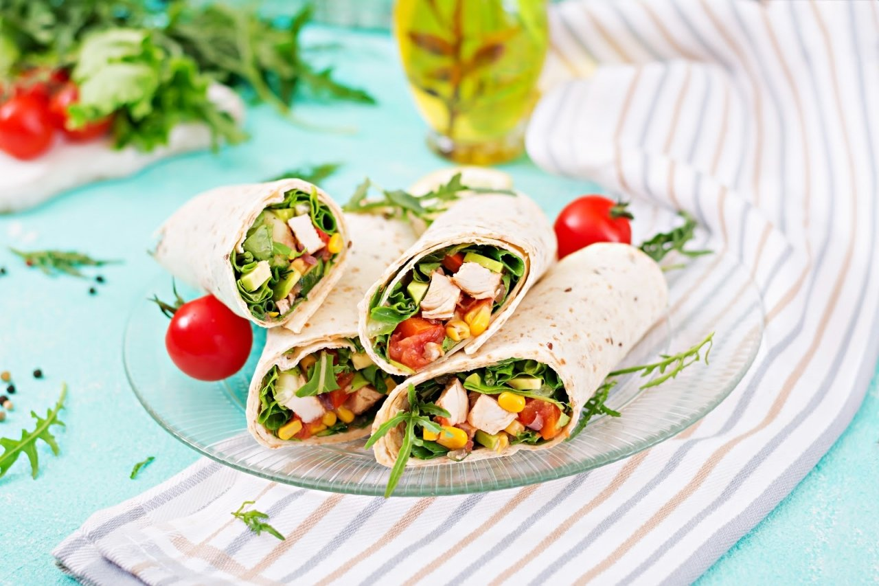 Utilise Leftovers with This Protein-Packed Rainbow Wrap