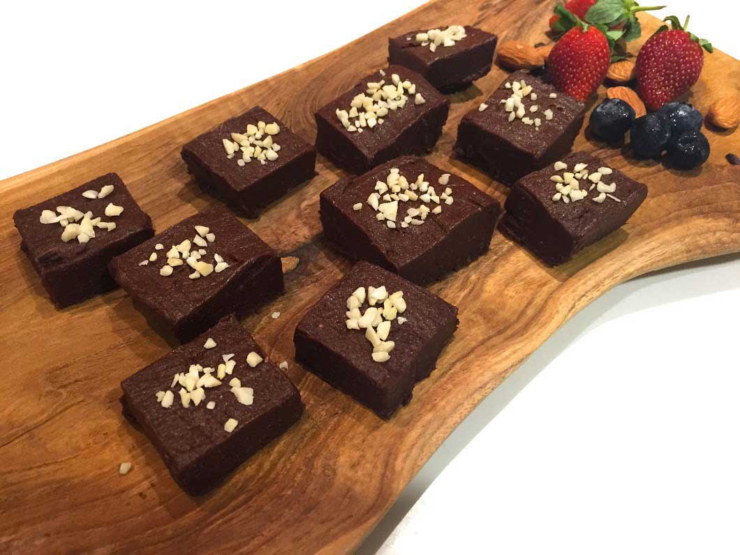 Raw Fudge Peanut Butter Brownies