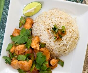 Spicy Thai Chicken and Snow Pea